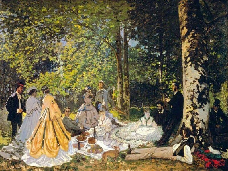 """Photo of Claude Monet painting """"The Picnic"""""""